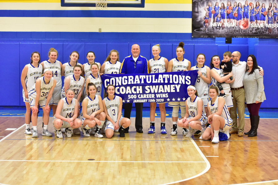 Coach+Swaney+earned+a+historic+victory+in+the+Lady+Devils+win+over+Moshannon+Valley.