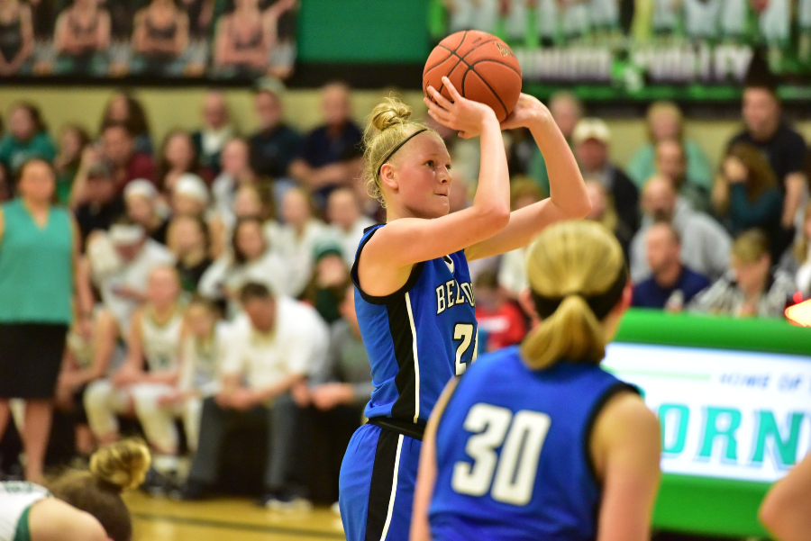 Alli Campbell had to work to earn each of her 21 points against Juniata Valley.