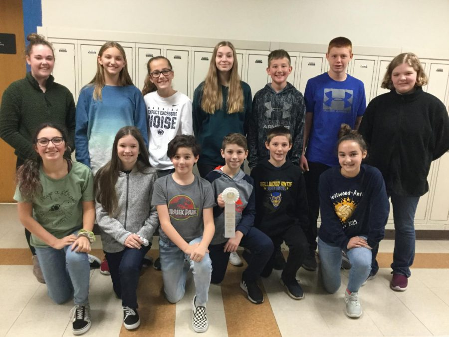 The 7th & 8th grade Reading Competition took third place honors at the Fall Meet.