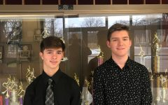 Cole Miller (l) and Andy Miller (r) recently represented Bellwood-Antis at District Jazz Band.