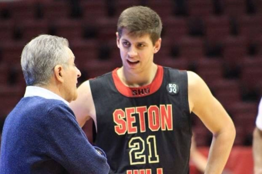 2013 grad Noah Davis, shown here playing basketball at Seton Hill, is besst known locally for his skills on the hardwood.