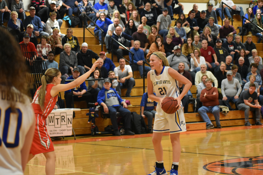 Alli Campbell sizes up her competition in the Reliance Bank Holiday Tournament championship against Tyrone.