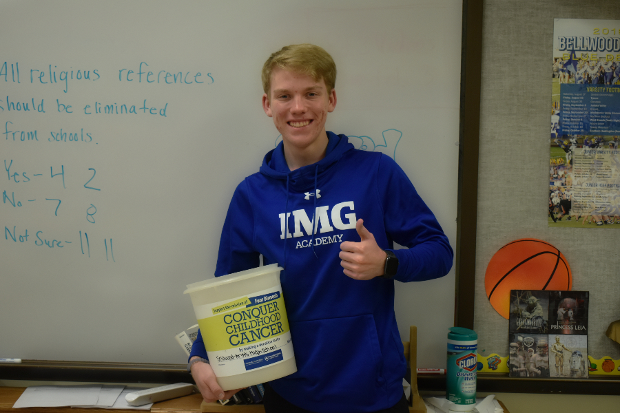 Corbin Nale and the rest of the mini-THON committee are gearing up for another stall day.