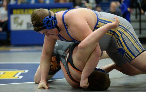 Evan Pellegrine kept things rolling last night with a win on Senior Night.