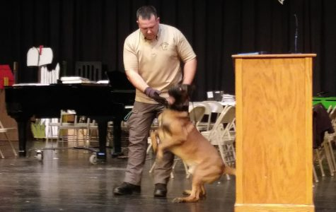 Officials brought a K-9 unit to B-A on Wednesday for a demonstration.