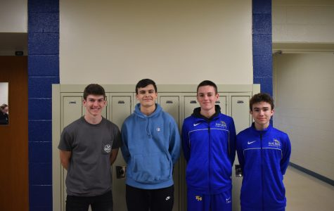 (From left) Corey Johnston, Jake Bollinger, Tyler Mercer, and Caleb Beiswenger are this year's Mr. mini-THONs.