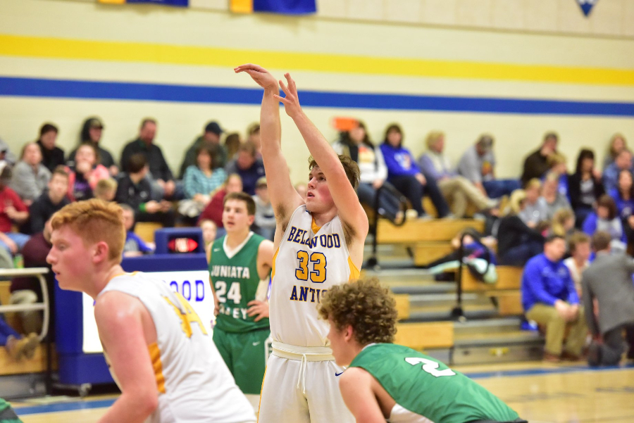 Troy Walker scored a game-high 18 points in B-A's Senior Night win over Moshannon Valley.