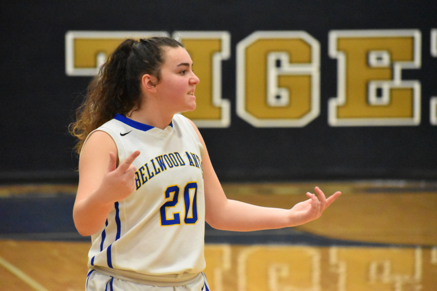 It was a frustrating night for Emilie Leidig and the Lady Blue Devils in the 2A semifinals against Bishop Guilfoyle.