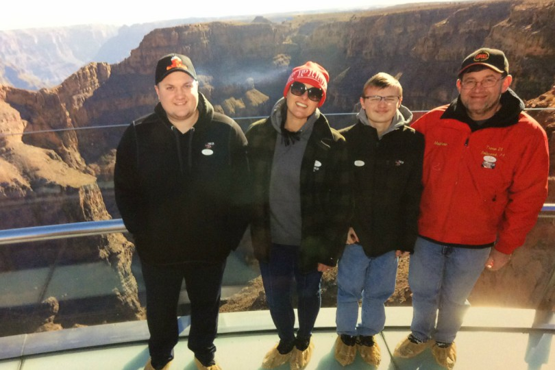 Mr.+and+Mrs.+Mackereth+visiting+The+Grand+Canyon+with+their+family.