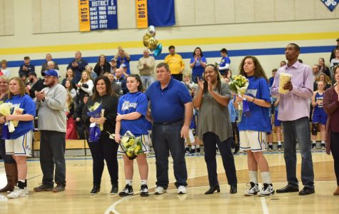 The B-A girls recognized a very special class on Senior Night.