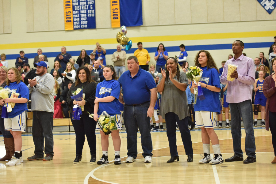 The+B-A+girls+recognized+a+very+special+class+on+Senior+Night.