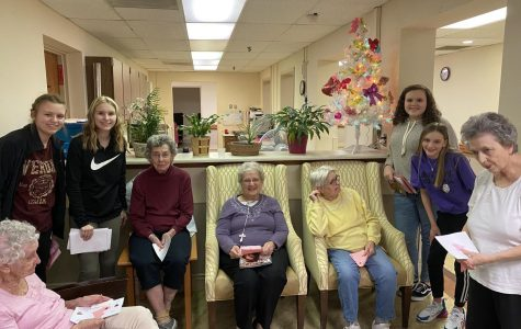 BAMS students enjoyed visiting the residents at Epworth Manor.