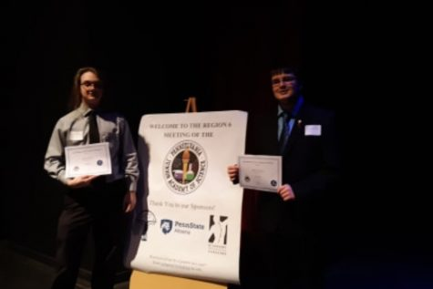 Zachary Merritts and Philip Chamberlin each earned first awards at PJAS and qualified for the state competition.