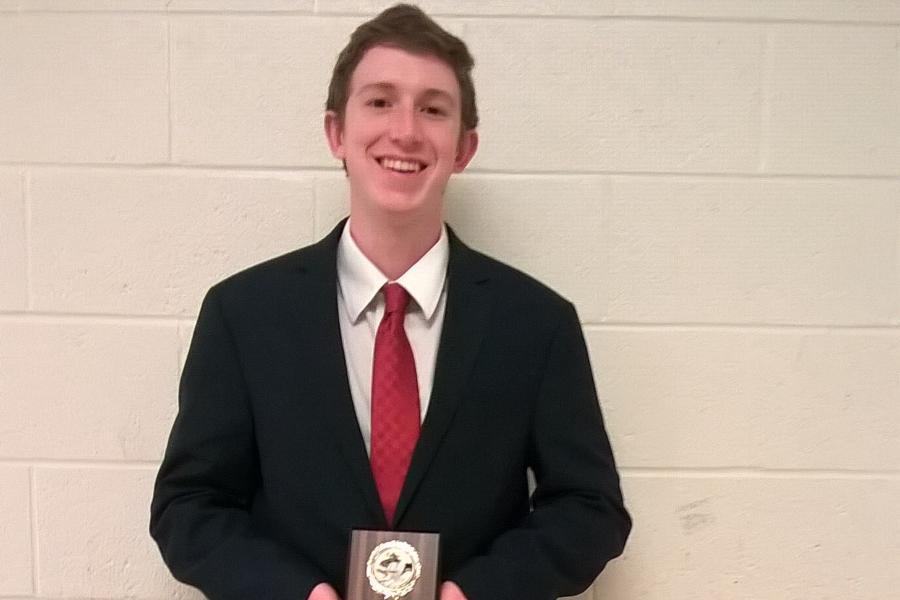 Sam Gormont advances to National Student Congress contest