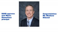 Matt Stinson will replace Dr. Terri Harpster as the principal of Myers Elementary.