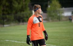 Landon Bungo allowed just one goal in the soccer team's first match, but the Eagles lost 1-0.