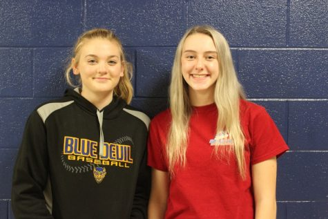 Sydney McFarland and Raven Criscitello are two new students who transferred to B-A this year.