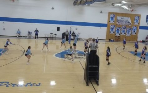The Lady Blue Devil volleyball team cracked the win column by defeating Williamsburg.