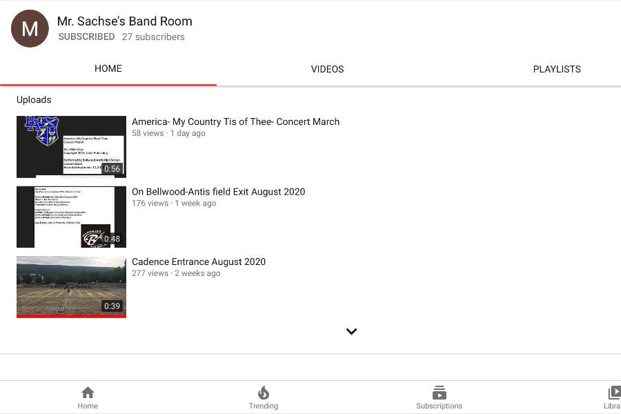 Bellwood band has a new YouTube channel