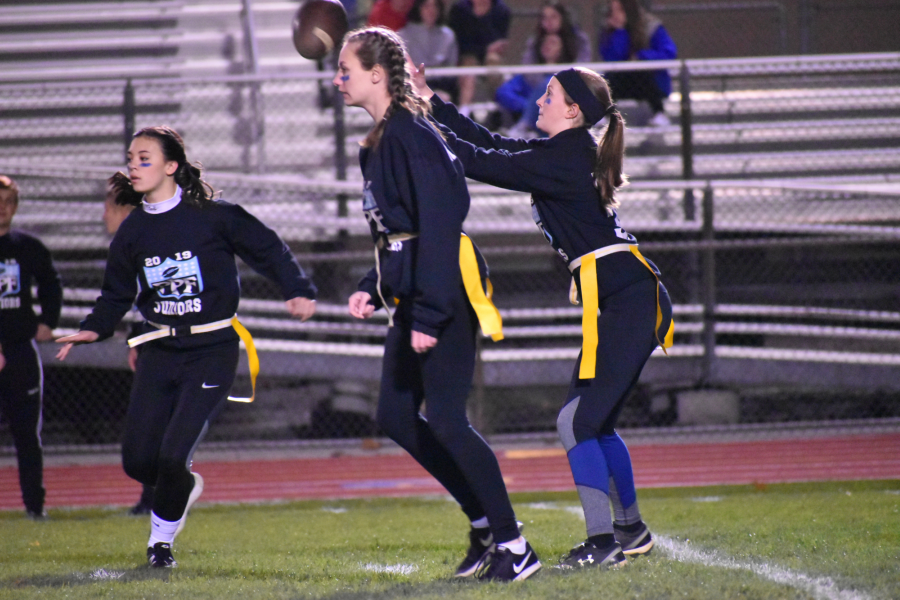Kaitlyn Robinson had the game-winning touchdown pass in last year's powder puff football game to secure an overtime victory.