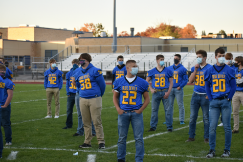 Senior recognition, 2020 Homecoming; October 16, 2020 (Rorie Wolf)