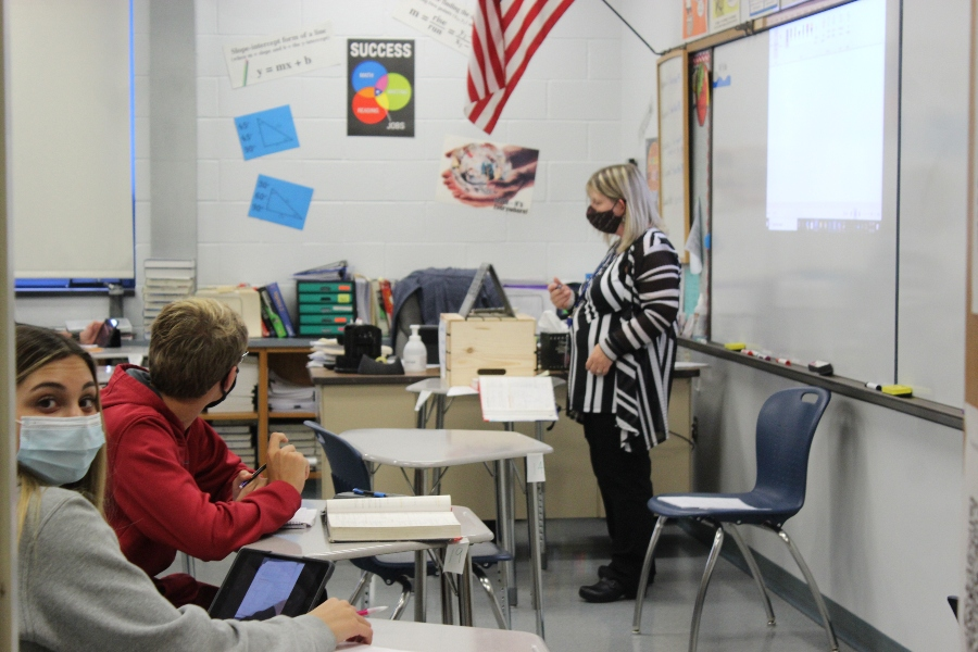 Mrs. Dawn Frank was one of the teachers who spoke to the BA school board Tuesday, expressing concerns about teachers handing both in-person and online learning.