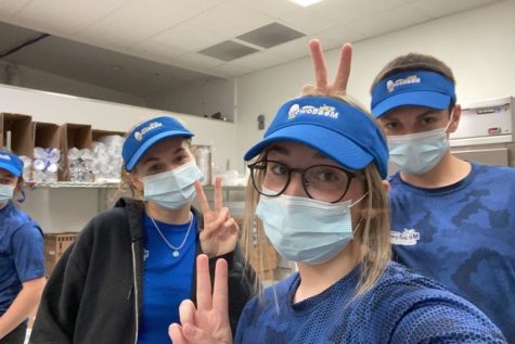 Madison Otto, Abbey Snyder, and Ty Mercer work another busy shift at the Meadows in Greenwood.