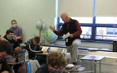 Mr. Roberts stresses to students the lasting impact of the upcoming election.