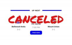 A COVID-19 case at Mount UNion has caused the cancellation of this week's Homecoming game.