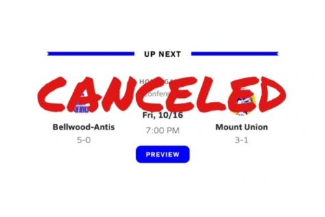 A COVID-19 case at Mount UNion has caused the cancellation of this week
