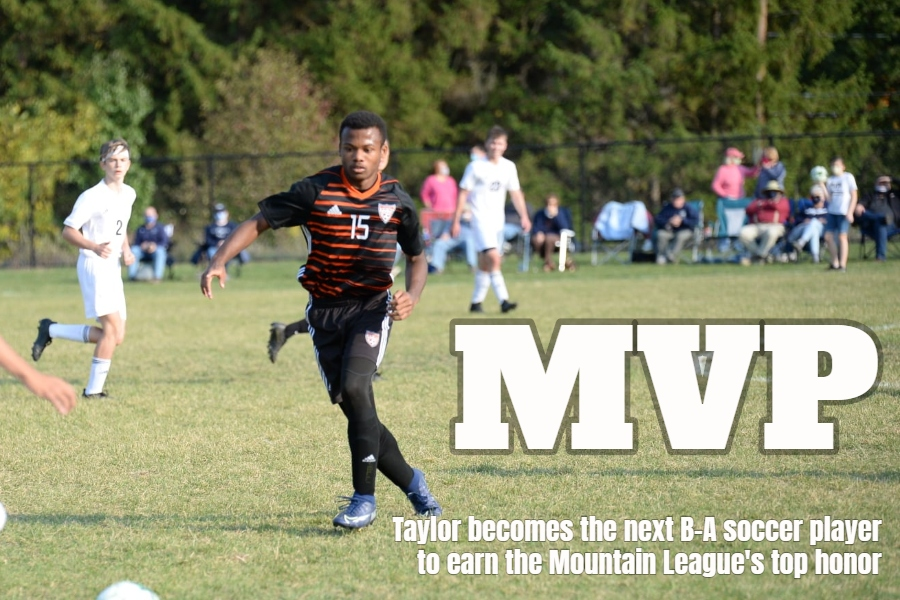 Alex Taylor was named the Mountain League soccer MVP Wednesday.