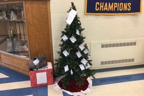 The Blue Angels are taking Christmas donations in the middle and high school until December 4.