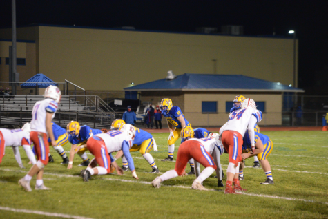 Tailback Zach Mallon had his toughest game of the season as the Blue Devils fell in the District 6 semis to Richland.