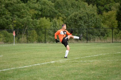 Soccer team goal keeper Landon Bungo will have his hands full stopping Hollidaysburg in the District 6 finals.