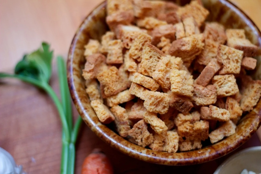 CHarles Wachnicki has a personal spin on the an old Thanksgiving  favorite: stuffing.
