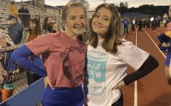 Bailey Frantz( right) and Trinity Riva (left) pictured at the 2020 Homecoming game.