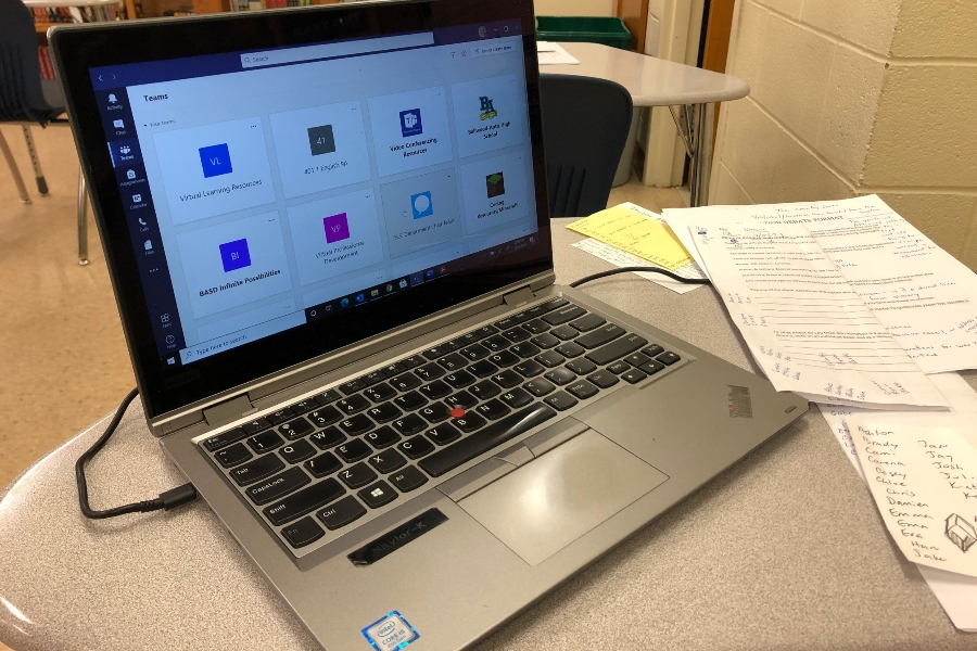 Teachers at B-A have been adjusting to the move to full online learning.