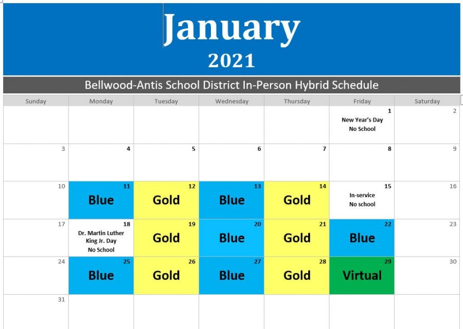 B-A students will follow a hybrid schedule at least until the end of January.