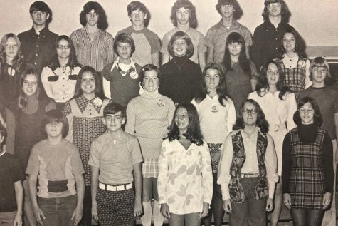 This photo from the 1974 Tuckahoe Yearbook exemplifies the more formal dress code at BA in the early 1970s.