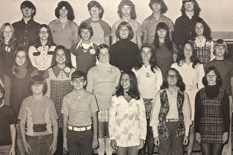 This+photo+from+the+1974+Tuckahoe+Yearbook+exemplifies+the+more+formal+dress+code+at+BA+in+the+early+1970s.
