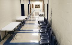The halls of BAHS look bare for most of the day with the school following a hybrid schedule.