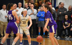 Chelsea McCaulsky, shown fighting through a screen against BG in last year's District playoffs, is expected to be a major part of the Lady Devils' offense this season.