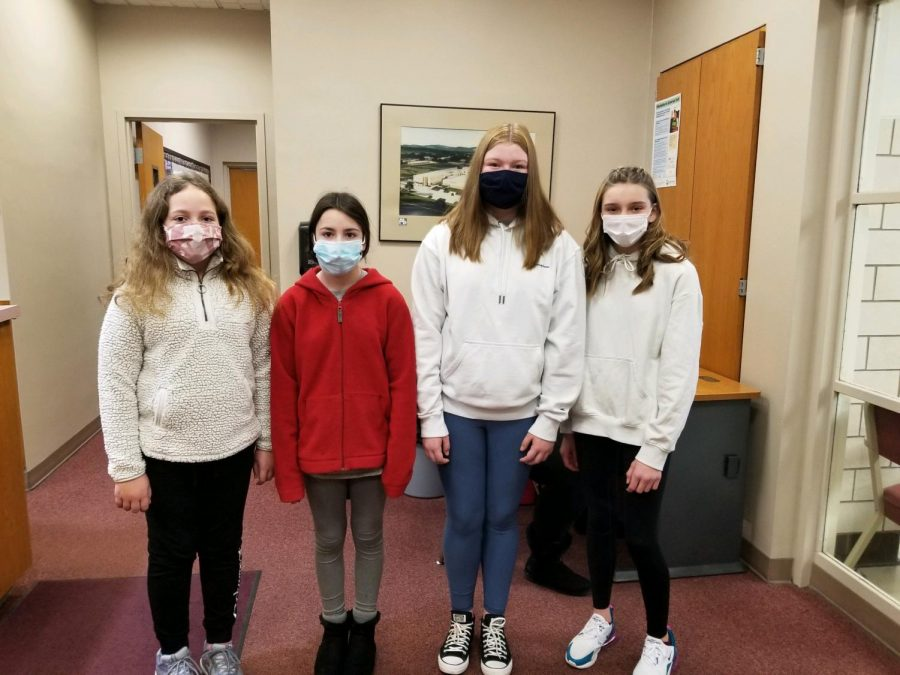 BAMS Students of the Week from February 8-12 are: (L to R) Allison Heisler, Brooke Noren, Bella Myers & Ava Patton.
