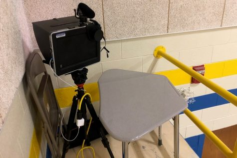 several padcasters purchased yb the school district have revolutionized the way high school sports can be shared with the BA community.
