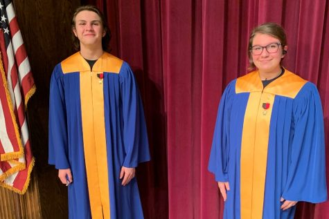 Daman MIlls and Sarah Berkowitz each performed in District chorus recently.
