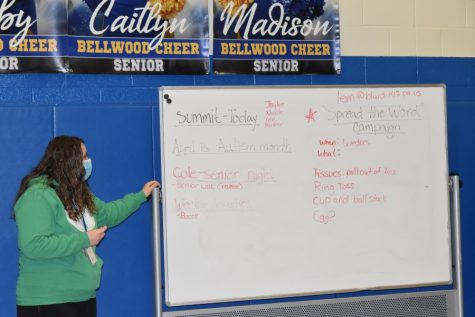 Mrs. McNaul at the inclusion Club meeting 3/17/21