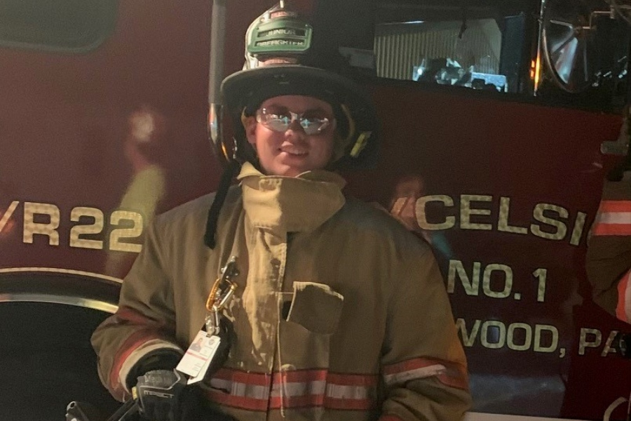 Joey Whiteford is a member of the Excelsior Fire Company.