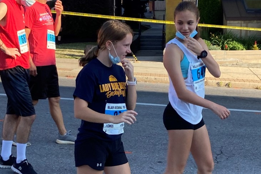 Lexi Lovrich prepares for a road race last summer. The sophomore is primed for a big season this year on the track.