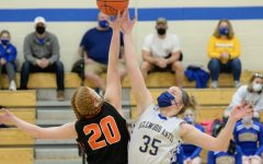 Lydia Worthing goes for the tip against Tyrone earlier this year.