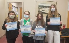 BAMS Students of the Week from March 8-12 are: (L to R) Maya Plummer, Hayden Laird, Ava Beiswenger & Johanna Heckman.